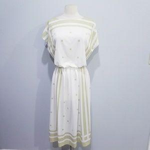 Vintage 80's retro square print dress Sears